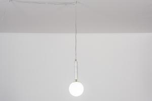 hanglamp 30986 design landelijk rustiek modern eigentijds klassiek messing marmer wit messing