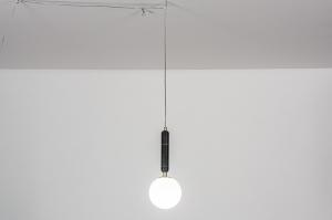 hanglamp 30987 design landelijk rustiek modern eigentijds klassiek messing marmer zwart messing