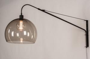 wandlamp 30995 landelijk rustiek modern klassiek eigentijds klassiek kunststof metaal zwart mat grijs