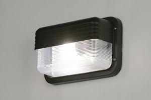 buitenlamp 30996 industrie look modern aluminium kunststof polycarbonaat slagvast zwart rechthoekig