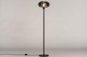 vloerlamp 31012 landelijk rustiek modern eigentijds klassiek art deco glas metaal zwart mat
