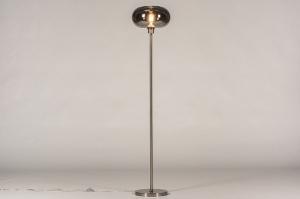 vloerlamp 31013 landelijk rustiek modern eigentijds klassiek art deco glas staal rvs metaal staalgrijs