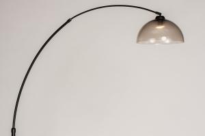 vloerlamp 31025 landelijk rustiek modern eigentijds klassiek kunststof metaal zwart mat grijs bruin