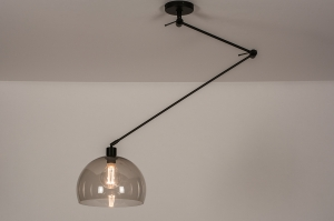 hanglamp 31027 modern retro eigentijds klassiek kunststof metaal zwart mat
