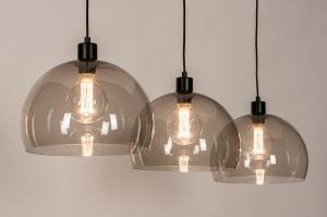 hanglamp 31031 landelijk rustiek modern eigentijds klassiek art deco kunststof metaal zwart mat grijs bruin