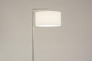 vloerlamp 31089 landelijk rustiek modern eigentijds klassiek staal rvs metaal wit mat staalgrijs rond rechthoekig