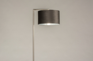 vloerlamp 31092 landelijk rustiek modern eigentijds klassiek staal rvs stof metaal grijs zilvergrijs zilver  oud zilver antraciet donkergrijs staalgri