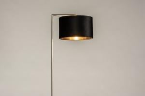 vloerlamp 31094 landelijk rustiek modern eigentijds klassiek staal rvs stof metaal zwart goud staalgrijs rond rechthoekig