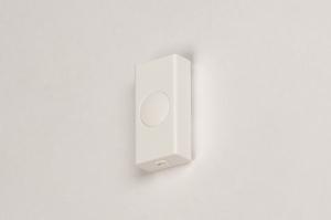 lichtdimmer 318 kunststof wit rechthoekig