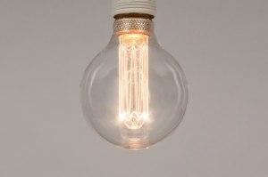 lichtbron 330 glas helder glas rond