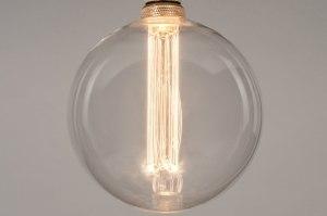 lichtbron 332 glas helder glas rond