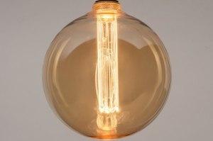 lichtbron 335 glas zacht geel rond