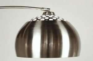 floor lamp 523 modern retro steel stainless steel round