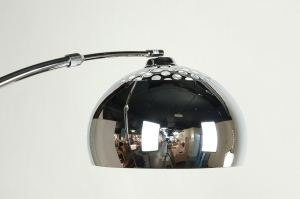 floor lamp 524 modern retro metal chrome round
