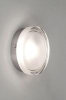 plafondlamp 53827 modern retro glas helder glas mat glas rond