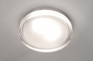 ceiling lamp 53829 modern retro glass clear glass frosted glass round