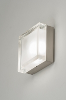 ceiling lamp 53831 modern retro glass clear glass frosted glass square