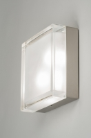 ceiling lamp 53833 modern retro glass clear glass frosted glass square