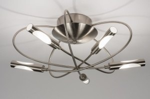 ceiling lamp 58816 modern stainless steel metal steel gray round