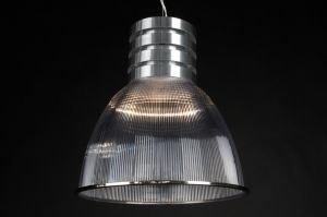 hanglamp 59305 industrie look aluminium kunststof acrylaat kunststofglas aluminium rond