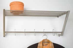 coat rack 59977 modern metal steel stainless steel rectangular