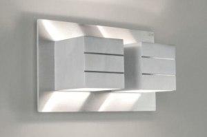 applique murale 66090 moderne design aluminium aluminium aluminium poli acier rectangulaire