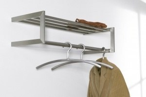 hallstand 66613 modern stainless steel metal rectangular