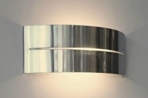 wall lamp 67348 modern stainless steel metal oblong rectangular