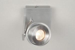 spot 67475 design modern geschuurd aluminium aluminium vierkant