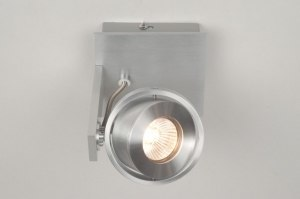 Foco 67475 Diseno Moderno Aluminio cepillado Aluminio Cuadrado