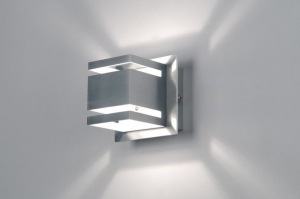 wandlamp 70215 design modern aluminium metaal aluminium vierkant