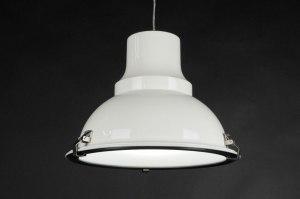hanglamp 70365 sale industrie look landelijk rustiek modern metaal wit glans rond