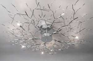 ceiling lamp 70464 modern metal chrome round