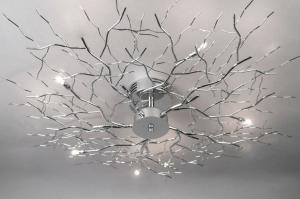 plafondlamp 70464 modern eigentijds klassiek metaal chroom rond