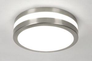 ceiling lamp 70510 modern stainless steel plastic polycarbonate round