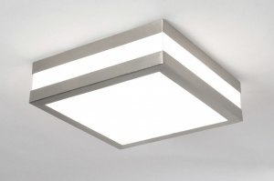 ceiling lamp 70511 modern stainless steel plastic polycarbonate square