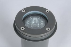 outdoor lamp 70520 modern aluminium metal grey dark gray round