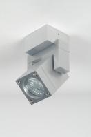 spot 70641 modern design aluminium geschuurd aluminium metaal rechthoekig vierkant