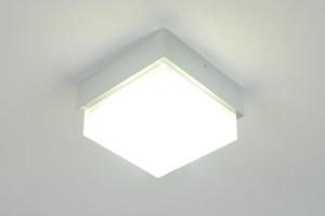 plafondlamp 70646 modern design aluminium aluminium kunststof metaal vierkant