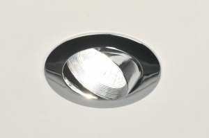 recessed spotlight 70805 modern retro contemporary classical metal chrome round