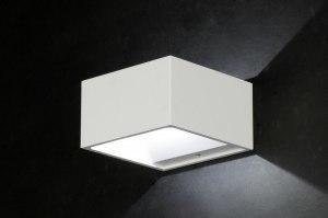 wandlamp 71050 design modern aluminium metaal wit rechthoekig