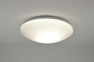 ceiling lamp 71097 modern plastic white round