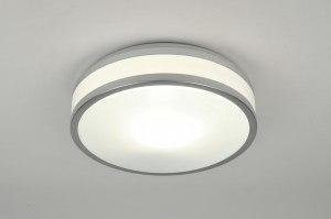 plafondlamp 71098 modern aluminium kunststof wit aluminium rond