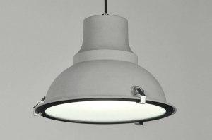 hanglamp 71161 modern landelijk rustiek industrie look betongrijs grijs metaal rond