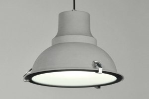 Pendelleuchte 71161 Sale Industrielook laendlich rustikal modern Metall grau Betongrau rund