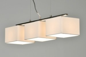 pendant light 71215 modern fabric white oblong rectangular