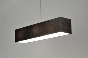 pendant light 71216 rustic modern fabric black oblong rectangular