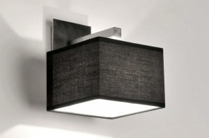 wall lamp 71218 modern contemporary classical fabric black square