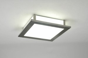 ceiling lamp 71295 modern contemporary classical glass white opal glass square