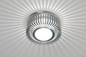 plafonnier 71381 design moderne classique contemporain aluminium acier aluminium rond